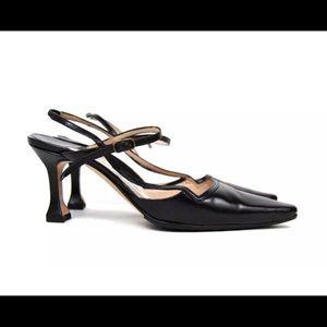 Manolo Blahnik London Pointed Toe Black Heels 36